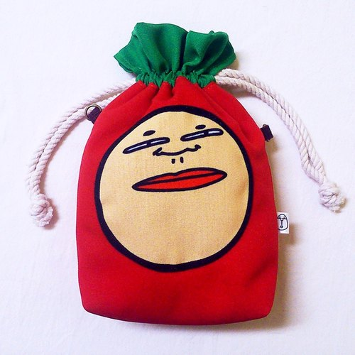 """People person"" fun illustration radish Bag - Red (multifunction tote / messenger bag / can be mounted camera, Polaroid)"