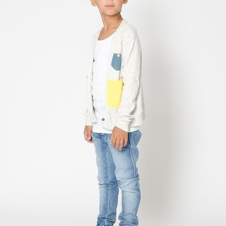 [Nordic children's wear] Swedish organic cotton flying washed jeans
