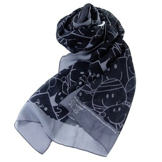 Mr Men & Little Miss x Artify Me black & Grey long scarf