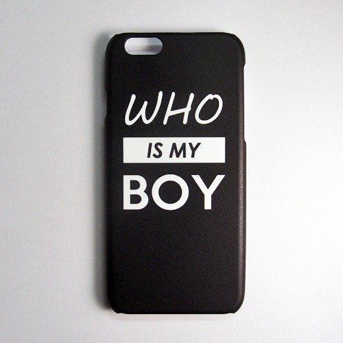 SO GEEK phone shell design brand WHO IS MY LOVE (Black)