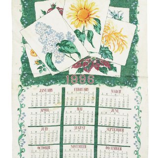 1996 American early cloth calendar flower