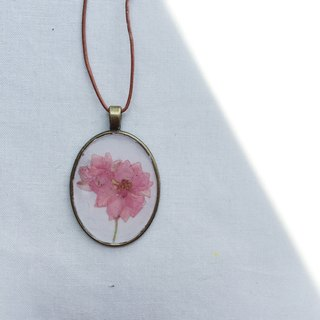 |: S1-016 Pressed Flower Necklace: |