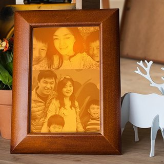 [Remembrance Day Preferred] New Pine Night Light Photo Frame Wedding Valentine's Day Mother's Day Preferred Photo Engraving