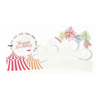 ◤ Ferris wheel before setting off fireworks | three-dimensional decorations birthday cards | JP