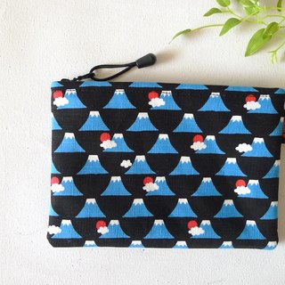 ✎ Mount Fuji in Japan | flat type universal bag / pouch | Large