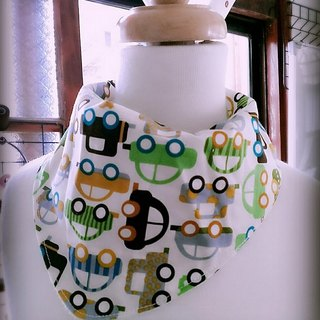 Truck (green) triangle scarf / bibs