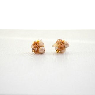 Earrings flower cotton pearl earrings