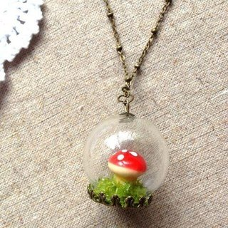 [Imykaka] ♥ crystal ball mill regardless of the grass necklace red valentines