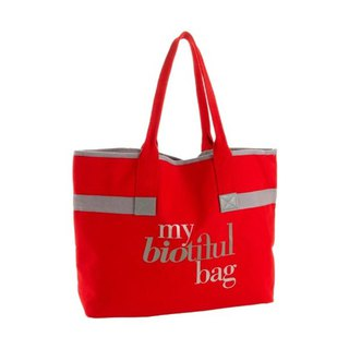 France my biotiful bag Organic Cotton Urban Series Tote Bag-RED