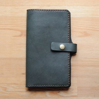 [DOZI leather hand-made] long passport holder can put a passport and ticket leather for dyeing can be free color scheme for the coffee color
