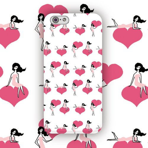 ▷ Umade ◀ PRETTY GIRL'S SWEET HEART [iPhone7 (i7, i7plus, i6, i6s, i6plus, i6splus, i5se, i5s, i5c) / Android (Samsung, Samsung, HTC, Sony) Phone Case / Accessories - matte hard shell - Artist creation] Naho Ogawa