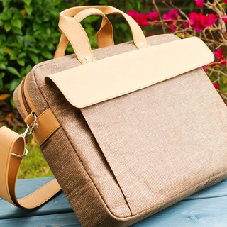 Briefcase Briefcase Bag│ natural water repellent │ paper fiber │ machine washable
