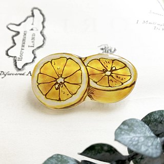 03 GRAPEFRUIT BROOCH