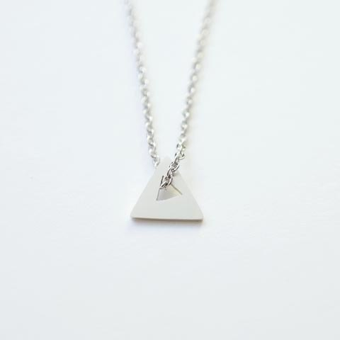 Handmade triangular sterling silver necklace