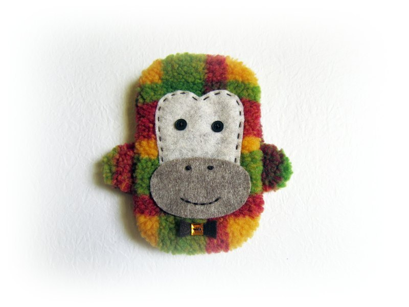 Monkey cell phone pocket (custom paragraph 16 × 10 cm)