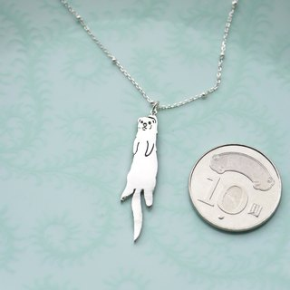 925 sterling silver [Ferret ferrets silhouette necklace] mystery summer xDrBlackArt - 嘿 ~ caught you!