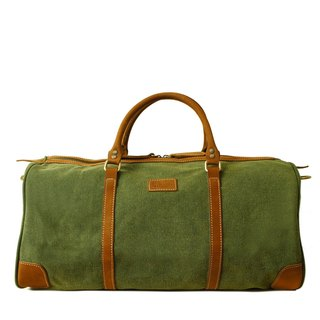 [Happa] simple fashion bag - suede short put - stonewashed canvas classic (Olive olive green)