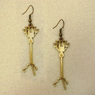 Winter first met brass handmade earrings -ART64