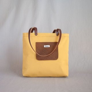 |100% handmade in Spain| Ölend Auster Fabric | Leather | Tote Bag (Mustard)
