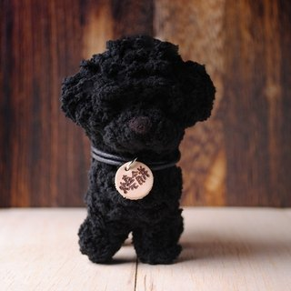 Pet avatar (fei wa design Fei baby hand made] 12 ~ 15cm black VIP pet doll (welcome to order your dog)