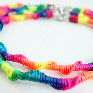 <Rainbow> Rainbow tailored XS mini small dog / cat pet collar waterproof