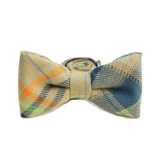 StoneasChic autumn and winter Plaid brush Maoying Lun tweeted tie bow Tie