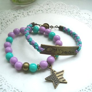 One Direction Bracelet - Tulu + Purple - 2