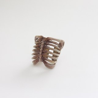 Rib Cage Ring Hand-craft Painted Version / Jewelry