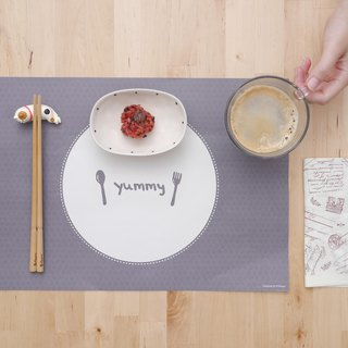 Yummy elegant food light paper placemat 10 sheets (adding no increase)