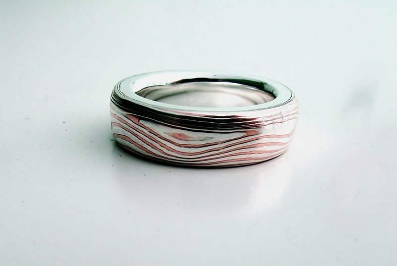 Element 47 Jewelry studio~ mokume gane ring 04 (silver/copper)