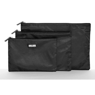 Organized Travel- three-piece multi-function travel pouch (stylish black)