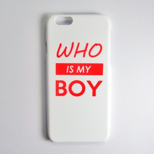 SO GEEK phone shell design brand WHO IS MY LOVE (White)