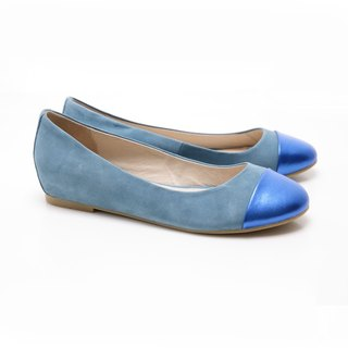 [Saint Landry] LAND metal stitching design Ballet Shoes (Blue)