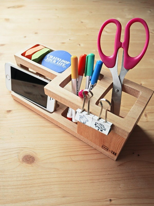 Chainloop x TAB logs storage box storage pen holder desk & desk stationery healing small thing