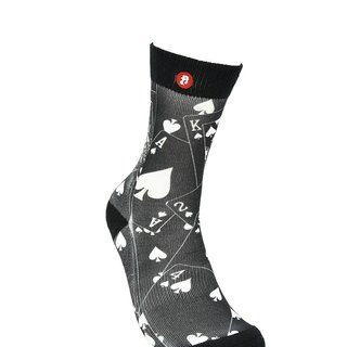 Hong Kong Design | Fool's Day stamp socks - Show Hand Black 00159