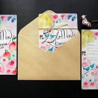 [Customized wedding invitations/wedding cards] watercolor hand-painted design