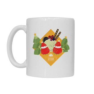 [Handongsongnuan] ordered a Christmas mug! - Strawberry sundae snowman -