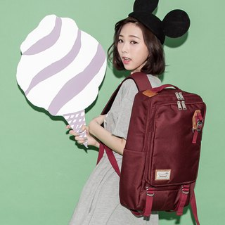 Doughnut Waterproof Toast Backpack - Red Beans