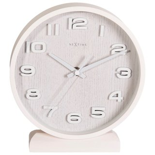 NeXtime - Wood Wood Small-white original wooden bell - White