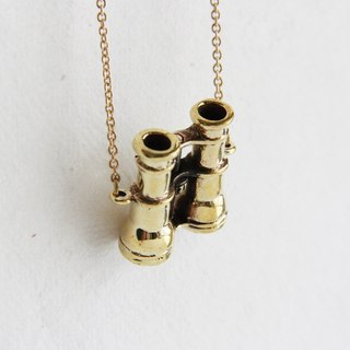 Golden Binoculars Pendant / Necklace / Fashion Hipster Girl Woman Accessories / Charm