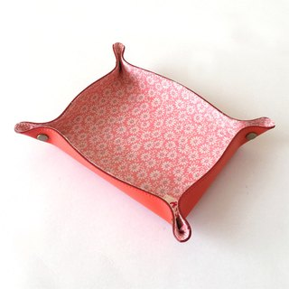 "Leather tray with Japanese Traditional Pattern, Kimono ""Silk"""