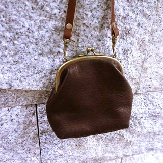 Sienna leather carry small mouth gold
