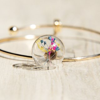 / Forest Department / British sense of minimalist design glass balls golden bracelet / bracelet - Starry rainbow colors