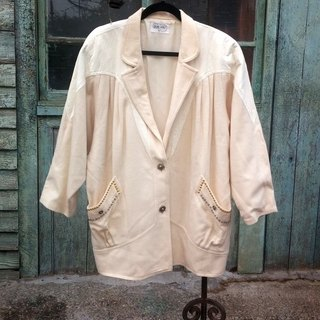 Vintage wool sheepskin coat splicing