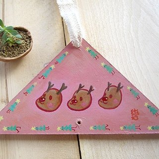 Hand-painted Christmas ornaments - elk Three Brothers