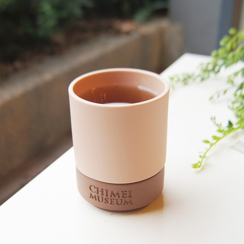 Good co-Yuan Chi Mei Museum logo Refreshment Cup - Pink / Brown
