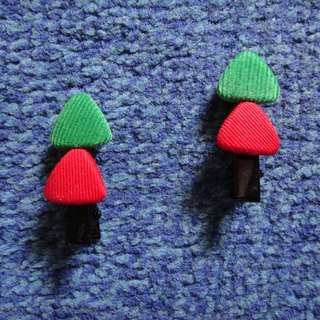 (C) Christmas tree _ cloth buttons duckbill short clip TTAMBZ53Z51