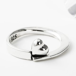 Sterling Silver Ring Loveheart 925 Silver Ring -ART64 - Love Ring