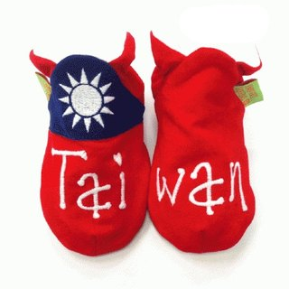 [Britain] handmade shoes FunkyFeet Fashions Taiwan flag toddler shoes
