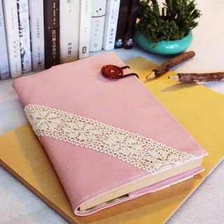 Hand clothes for the book notebook [end] of time chartered cherry pink linen subsection (Big = A5)